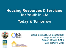 Housing Resources & Services for Youth in LA:
