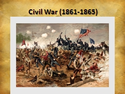 Civil War (1861-1865) Confederate States of America