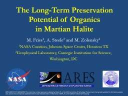 The Long-Term Preservation Potential of Organics