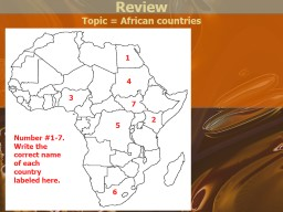 Review Topic = African countries