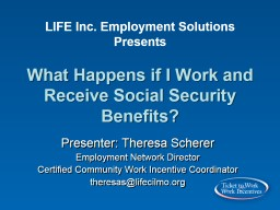 LIFE  Inc.  Employment Solutions PowerPoint PPT Presentation