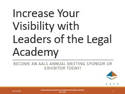 Increase Your Visibility with Leaders of the Legal Academy