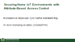 Securing Home  IoT  Environments with