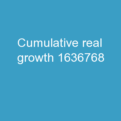 Cumulative real growth  ?