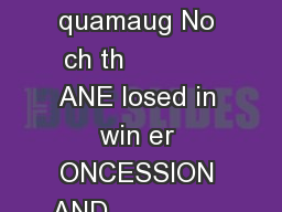 THLETIC FIELDS     THLETIC FIELD                                              quamaug No ch th            ANE losed in win er ONCESSION AND                      emlock ollar Lane Hemen ay ond     d th