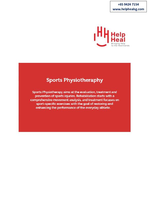 Sports Physiotherapy Singapore
