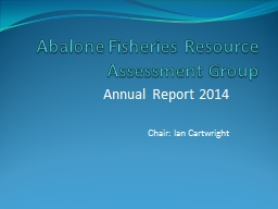 Abalone Fisheries Resource Assessment Group