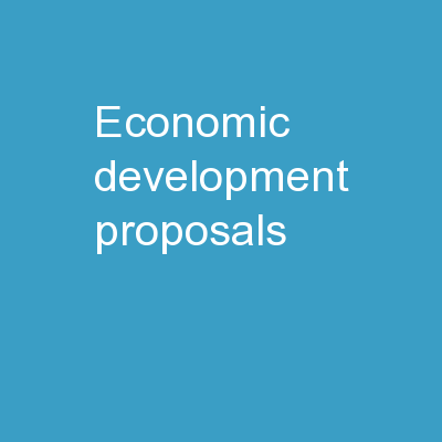 Economic Development Proposals