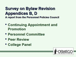 Survey on Bylaw Revision