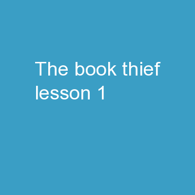 The Book Thief Lesson 1