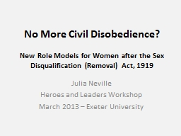 No More Civil Disobedience?