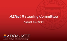 AZNet II  Steering Committee