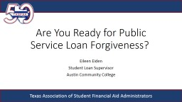 Are  You  Ready for Public Service Loan