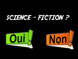 SCIENCE – FICTION ?  La Terre en l'an