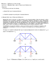 Module   Deflection of Structures Lecture   MaxwellBet