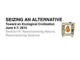 SEIZING AN ALTERNATIVE  Toward an Ecological Civilization