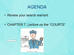 AGENDA Review your search warrant