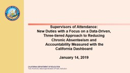 Supervisors of Attendance: