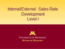 Internal/External Sales Rate Development