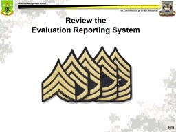 Review the   Evaluation Reporting System PowerPoint PPT Presentation