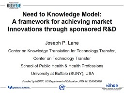 Need to Knowledge Model: