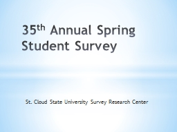 St. Cloud State University Survey Research Center