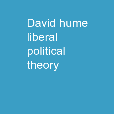 David Hume Liberal Political Theory