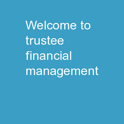 Welcome to  Trustee Financial Management