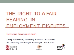 The  right to a fair hearing in employment disputes