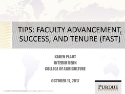 TIPS: Faculty  Advancement, Success, and Tenure (FAST)