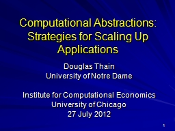 1 Computational Abstractions:
