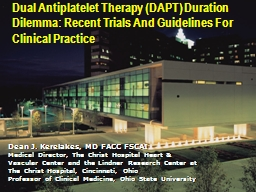 Dual Antiplatelet Therapy (DAPT) Duration