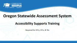 Accessibility Supports Training