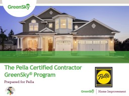 The  Pella Certified Contractor
