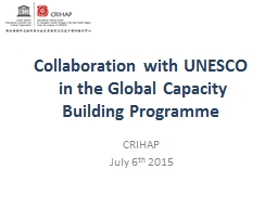 Collaboration with UNESCO