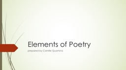 Elements of Poetry p repared by