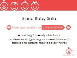 Sleep Baby Safe A training for
