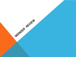 Wonder Review Characters