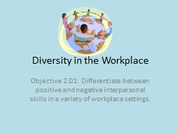 Diversity in the Workplace PowerPoint PPT Presentation