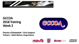 GCCOA 2018 Training Week 2