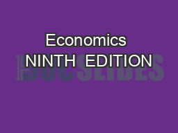 Economics NINTH  EDITION