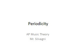 Periodicity AP Music Theory