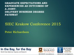 Graduate expectations and experiences as outcomes of a joint-