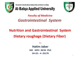 Faculty of Medicine   Gastrointestinal  System