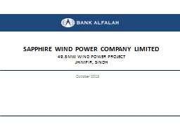 SAPPHIRE WIND POWER COMPANY LIMITED PowerPoint Presentation, PPT - DocSlides