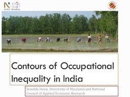 Contours of Occupational Inequality in India PowerPoint Presentation, PPT - DocSlides