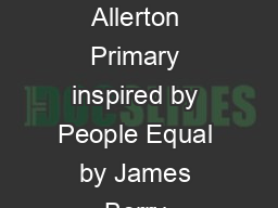 Poem written by Year 5, Allerton Primary inspired by People Equal by James Berry & Christopher
