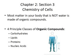 Chapter 2: Section 3 Chemistry of Cells