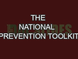 THE NATIONAL  PREVENTION TOOLKIT