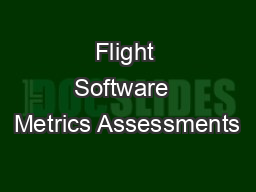 Flight Software  Metrics Assessments